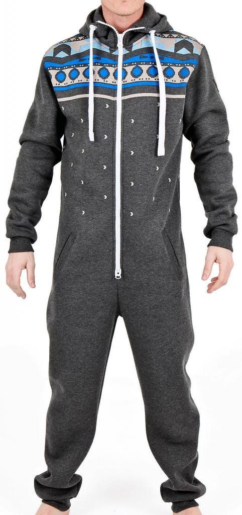 70adfa74af52 SkylineWears Men s Fashion Onesie Hooded Jumpsuit One Piece non Footed  Pajamas Bodysuit Playsuit Small Charcoal