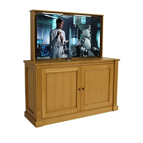 This Traditional Jefferson Tv Lift Cabinet Features A Simplistic Design Clean Lines And Subtle Details