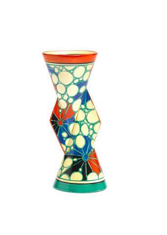 Clarice Cliff Broth A Rare Yo Yo Vase Shape 379 Circa 1930