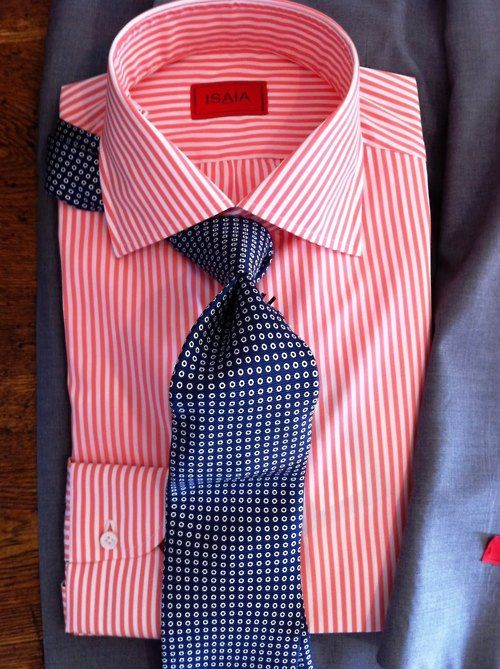 Shirt and tie combinations google search menswear for Striped shirt with tie