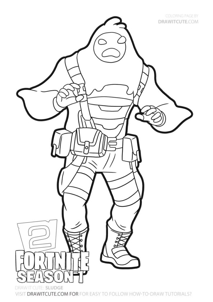 How To Draw Sludge Fortnite Chapter 2 Coloring Page Draw It Cute Fortnitepc Fanart Fortniteleaks Fortnitesol Cute Coloring Pages Drawings Coloring Pages