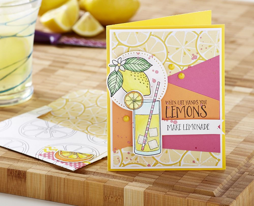 When Life Gives You Lemons Handmade Card Featuring Fun Stampers