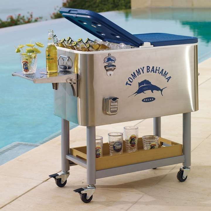 Tommy Bahama Swordfish Cooler Rolling Cooler With Tray