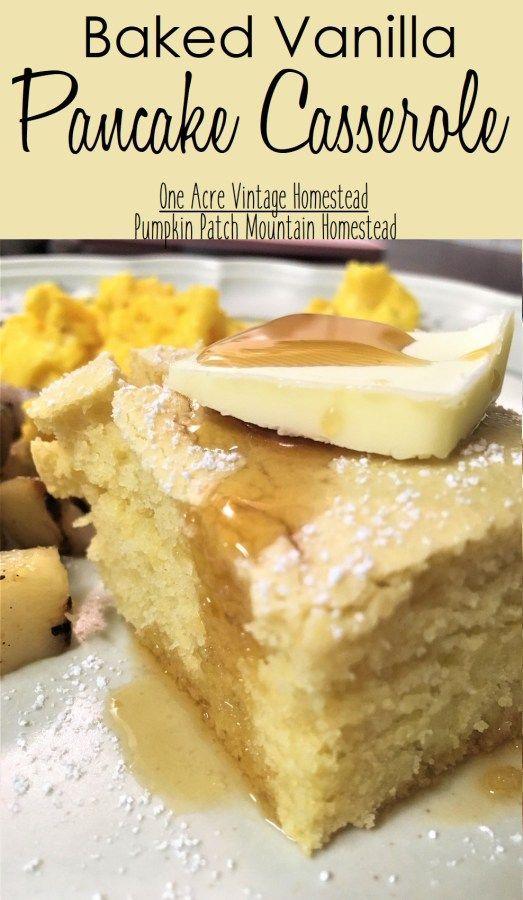 Baked Pancake Casserole ⋆ One Acre Vintage & Pumpkin Patch Mtn.