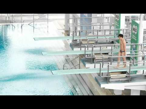 241014 China He Chao 3M Springboard Men 1st Dive FINA Diving Grand