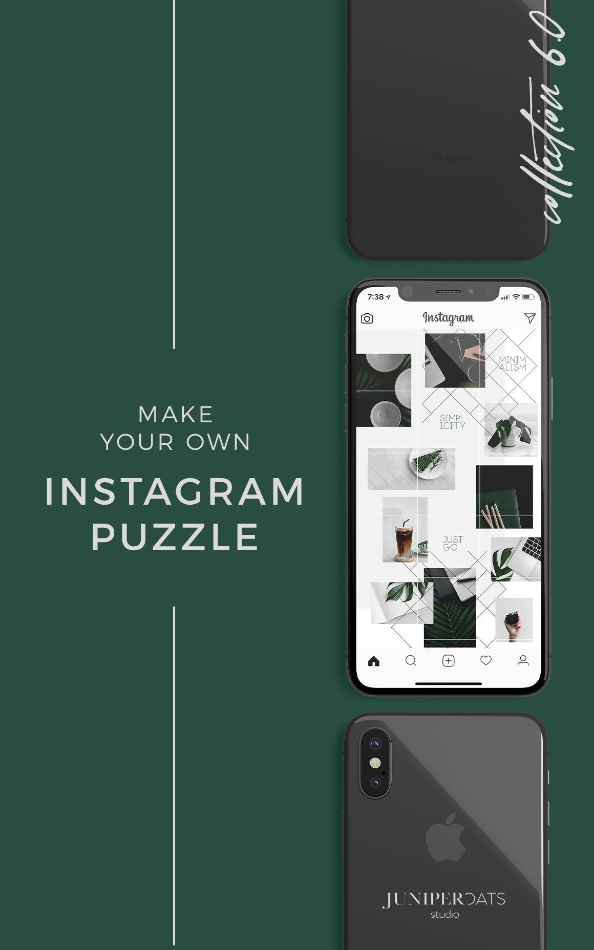 Emerald Instagram Puzzle Juniperoats Instagram Collage Instagram Tutorial Instagram Design