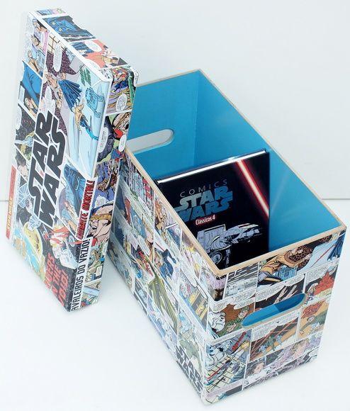 Caixa MDF Hq's decorada Star Wars