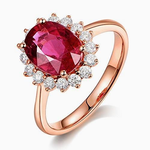 new 14k rose gold south africa diamond natural tourmaline gemstone wedding engagement diamondrings https - Wedding Ringscom