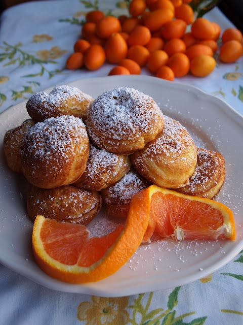 Photo of Orange Ebleskiver's with Orange Cream Cheese filling….wow!