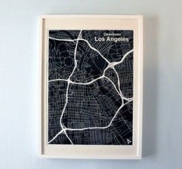 LA Map Print Interesting Things Pinterest Maps maps maps