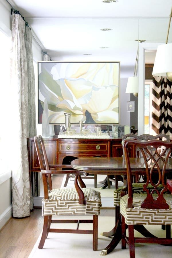 Home Tour Carter Miller | Slipcovers for chairs, Dining ...