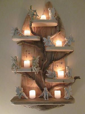 Fairy Tree Unique Driftwood Shelves Solid Rustic Shabby Chic