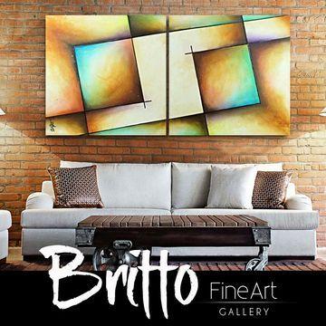Quadros abstratos coloridos para sala
