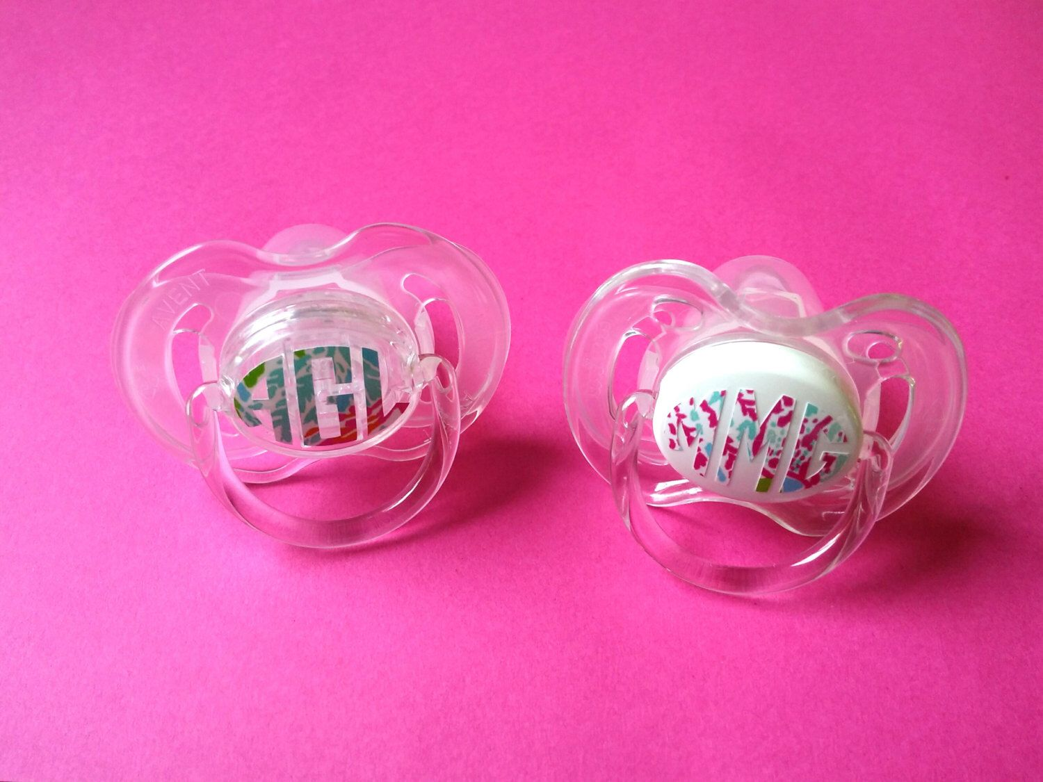 Monogrammed Pacifier-  personalized baby gift, baby girl gift, baby girl gift by InspiredByEmilyGrace on Etsy https://www.etsy.com/listing/238812793/monogrammed-pacifier-personalized-baby