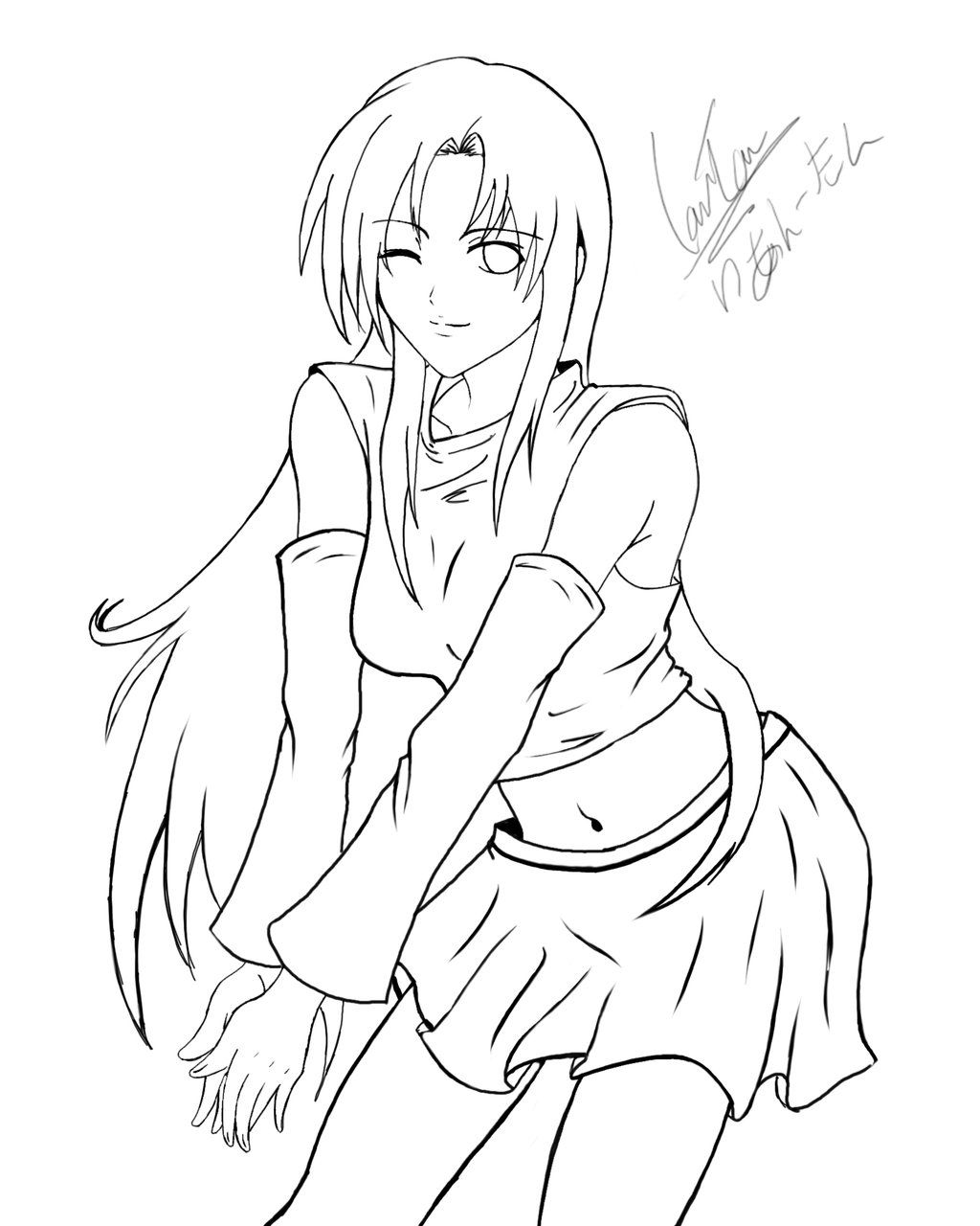 Line Art For Coloring : Anime line art wings google search my coloring book