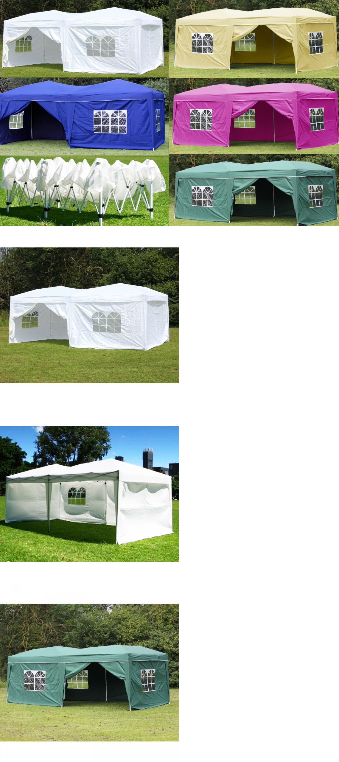 Awnings And Canopies 180992 10x20 Outdoor Ez Pop Up Tent Folding