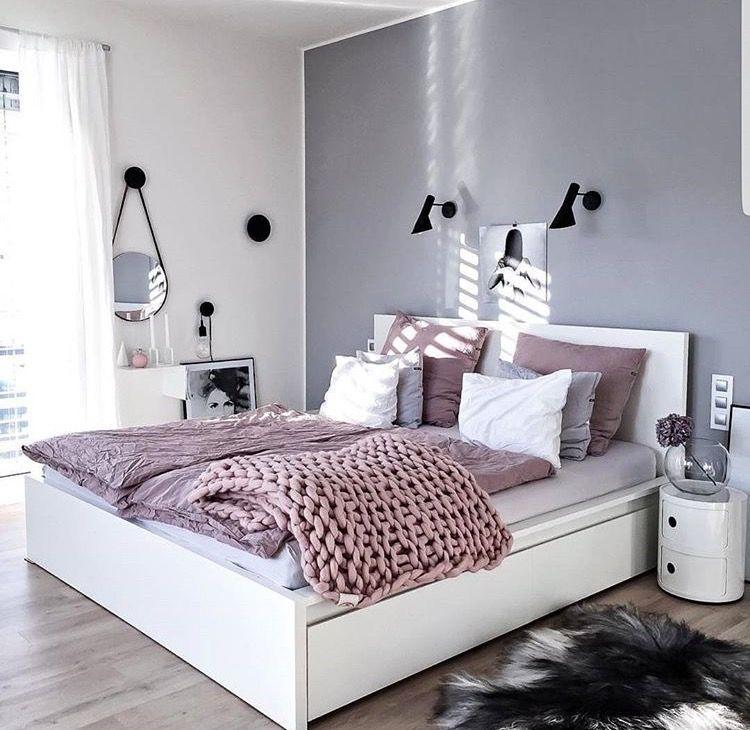 Schlafzimmer grau rose weiß Interior Pinterest Interiors - schlafzimmer weiß grau