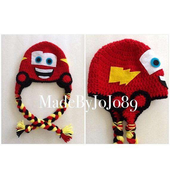 Crochet Cars Hat Lightning McQueen by MadeByJoJo89 on Etsy, $15.00 ...