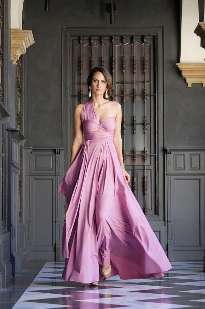 Convertible Dress in Cotton Candy. www.rojocarmesi.com #wedding #bridesmaid #fashion #dress