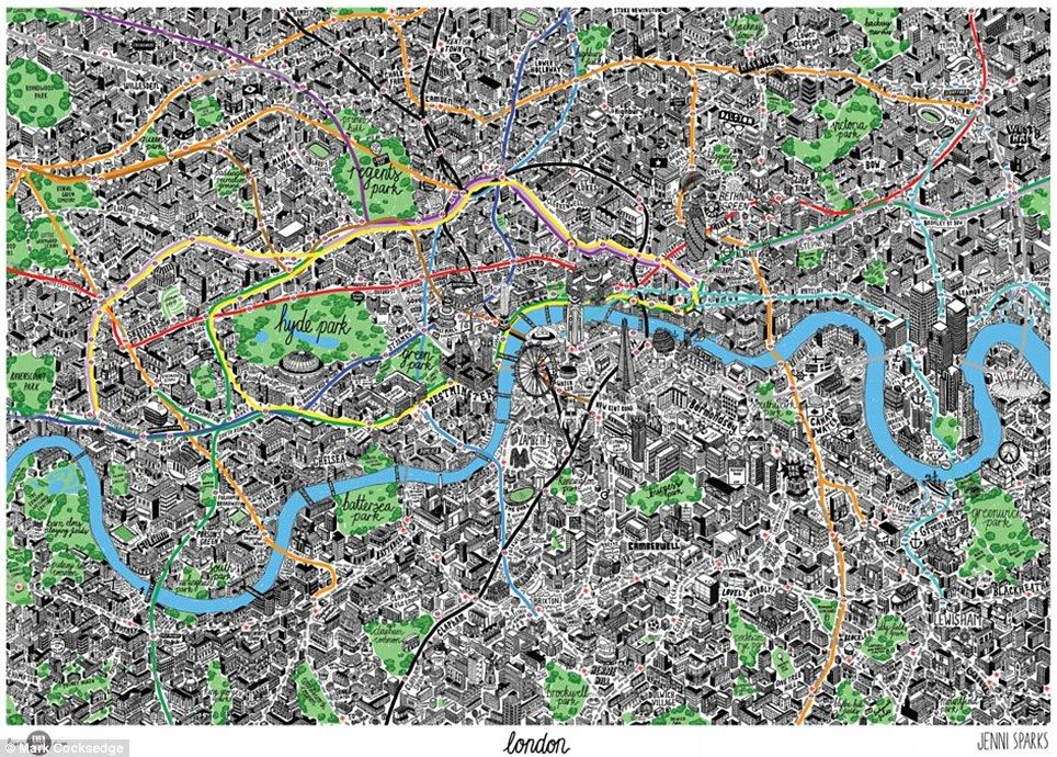 Full Map Of London.You Ll Be Drawn To London Artist Sketches Quirky Map Of The Capital