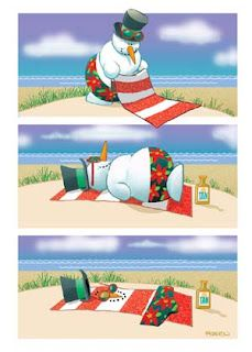 beach themed christmas cards