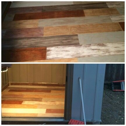 Diy faux reclaimed plywood floor for shed, some looks like