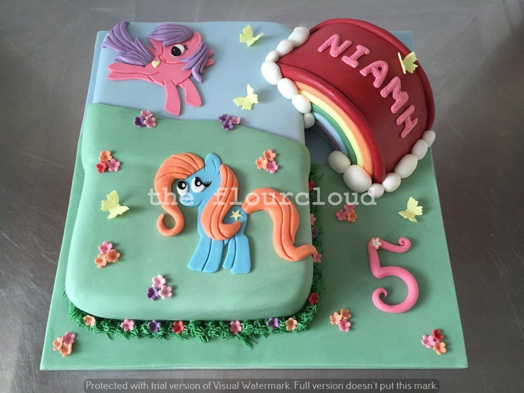 My little pony rainbow birthday cake Childrens Cakes Pinterest