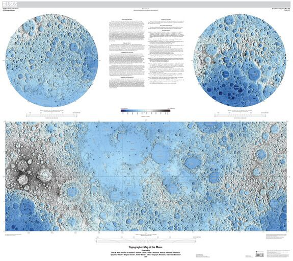 A New Moon Map Based On Altimeter Data From The Lunar - Altimeter map