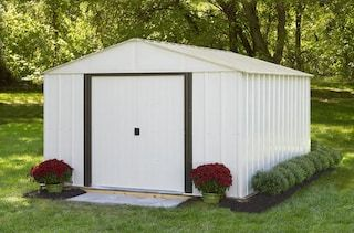 Menards 10 X 12 Steel Building Add Storages Shelved Accessories Attic Bench Shed Storage Metal Storage Sheds Steel Storage Sheds
