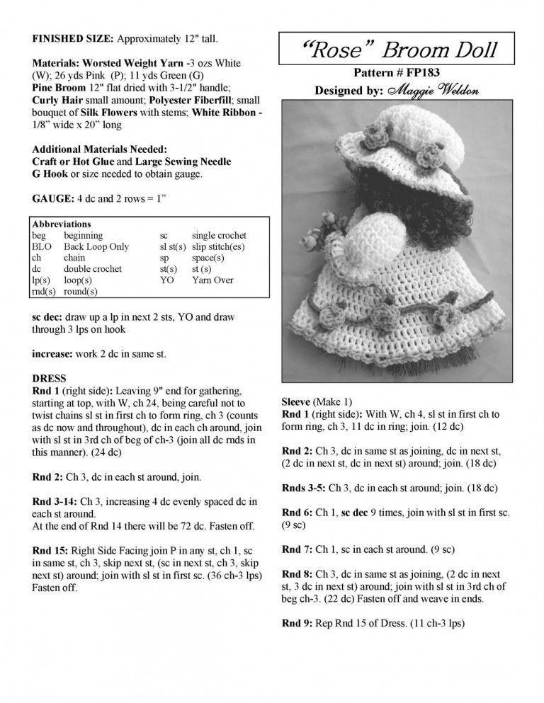 Free-Pattern-Maggie-Weldon-Crochet-Rose-Broom-Doll-FP183_Страница_2 ...