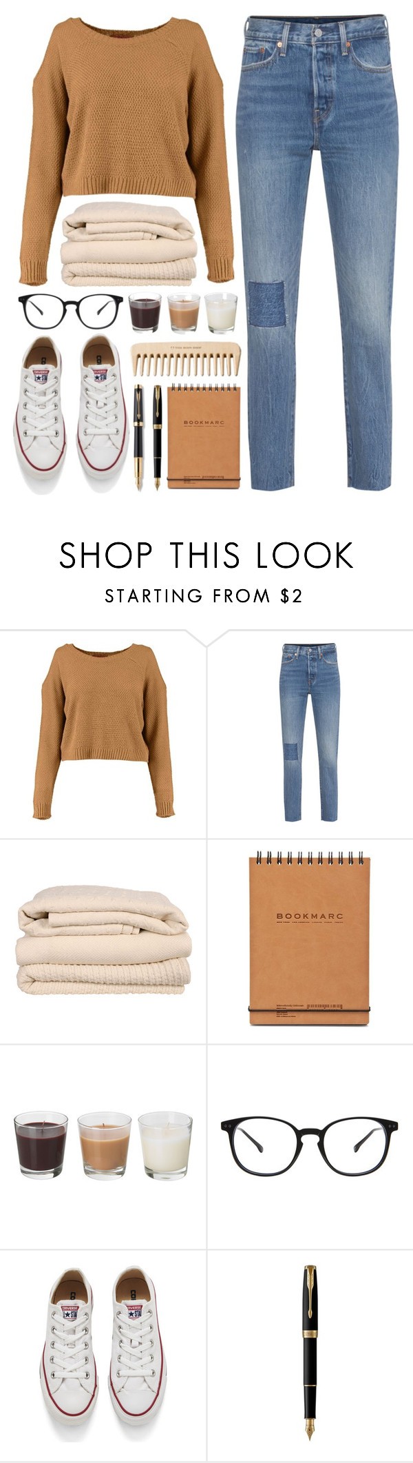 """""""cuddled up under blankets, that's where we used to be"""" by nxctuary ❤ liked on Polyvore featuring Levi's, Brahms Mount, The Body Shop, Converse and Parker"""