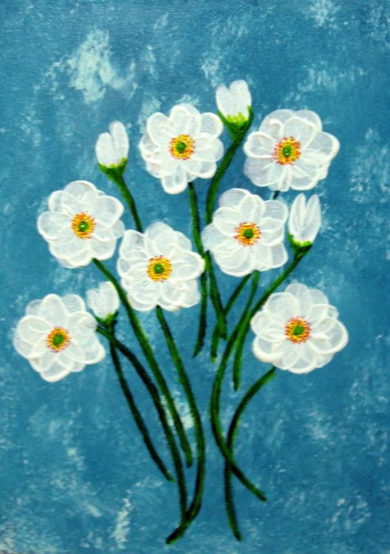 acrylic flower painting google search painting