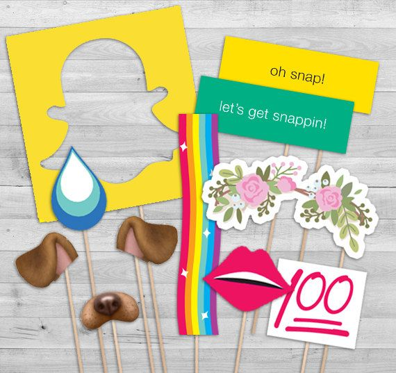 Snapchat Party Invitation And Photo Booth Props By Wlazdesignshop