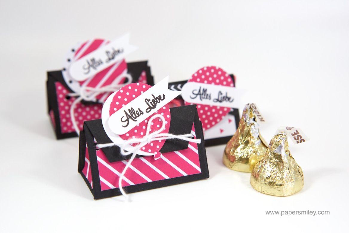 Mini-Geschenkbox für Hershey\'s Kisses mit Stampin\' Up! – und mit ...