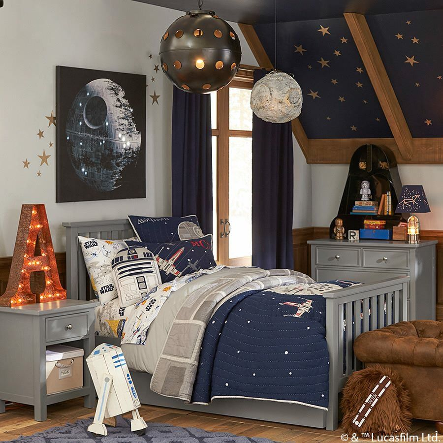 Pottery barn kids star wars bedroom kids room ideas for Themed bedrooms for boys