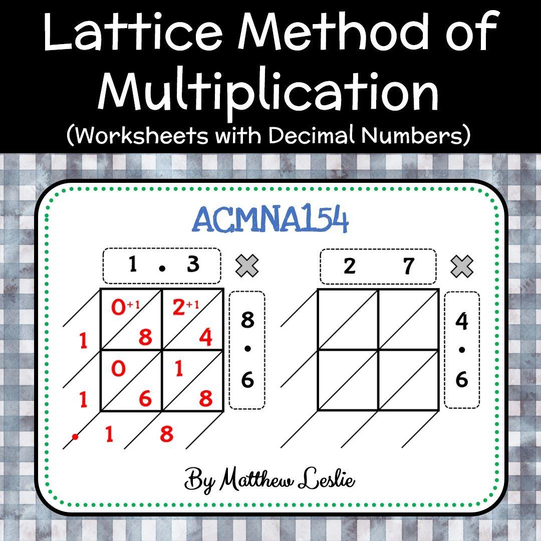 Lattice Method Of Multiplication Worksheets With Decimal