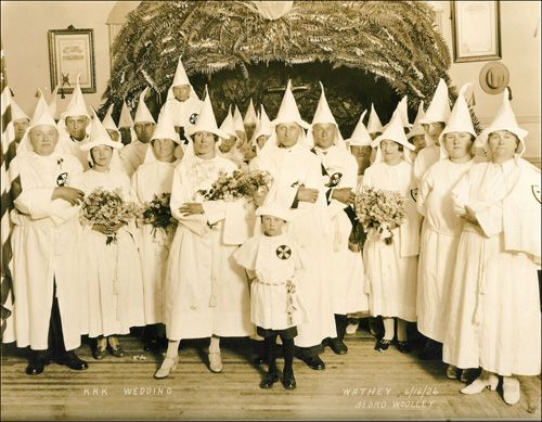 KKK Wedding in Sedro Woolley, WA, June 6, 1926. Politics and humanity aside...you all look very, very silly.