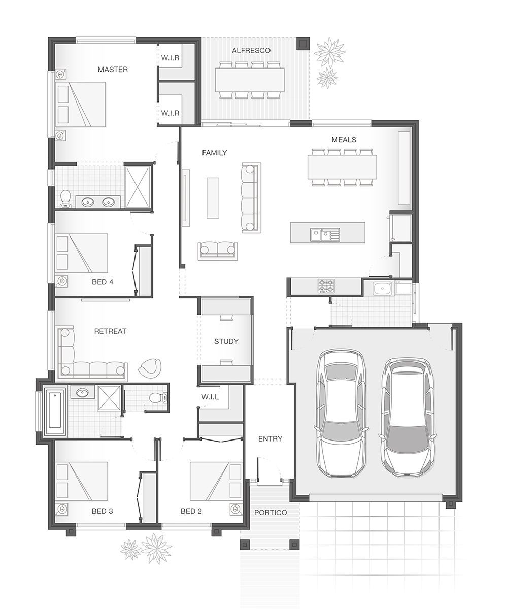 The Iluka Small Modern House Plans 4 Bedroom House Plans