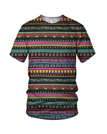 848b8914b Amazon.com: All Over Print Aztec Pattern Men's Fashion T Shirt: Clothing