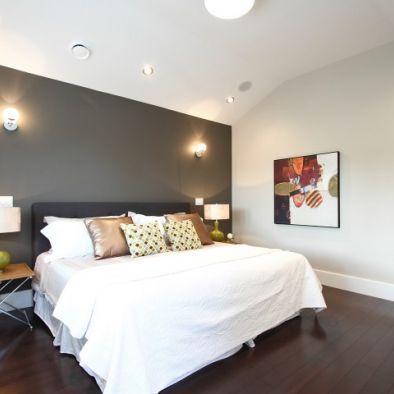 One Dark Accent Wall Bedroom Gray Accent Wall Bedroom Bedroom