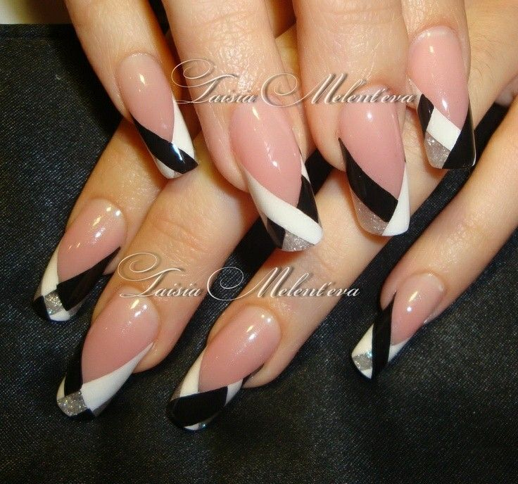 Fancy colored french nail design | After Christmas Nails | Pinterest ...