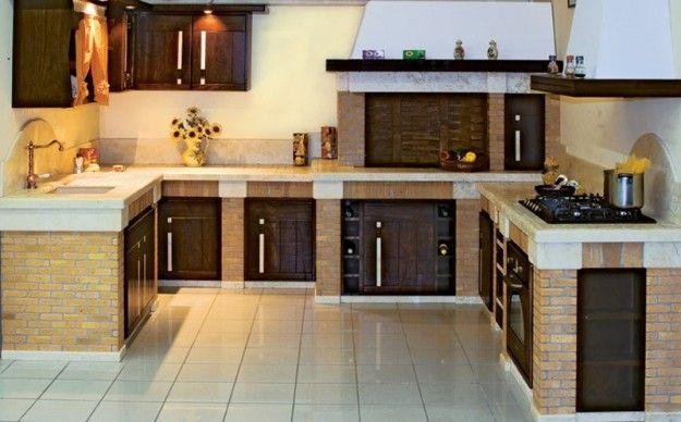 Cucine in muratura rustiche e moderne | Cocinas | Pinterest ...