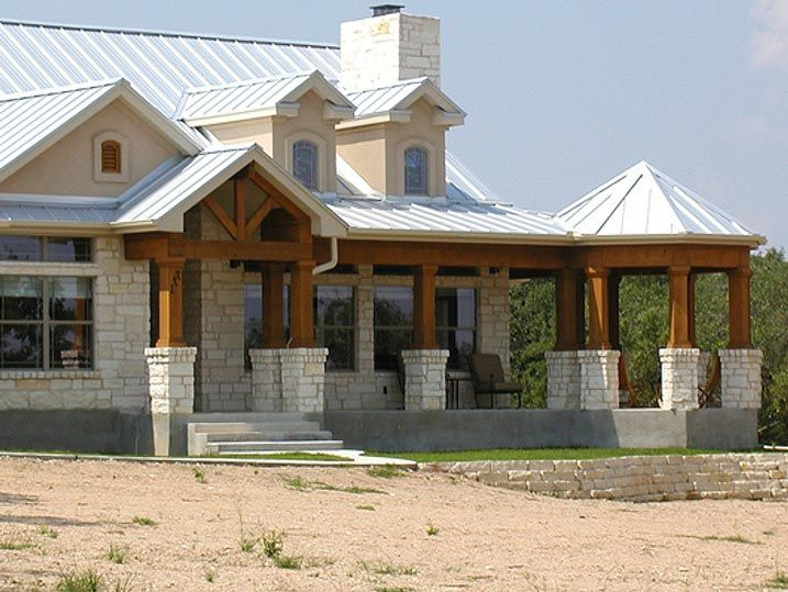 Unique ranch house w steel roof wrap around porch hq for Custom ranch house plans
