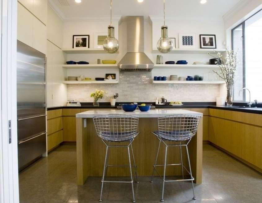 Soggiorno piccolo con angolo cottura Cucina quadrata