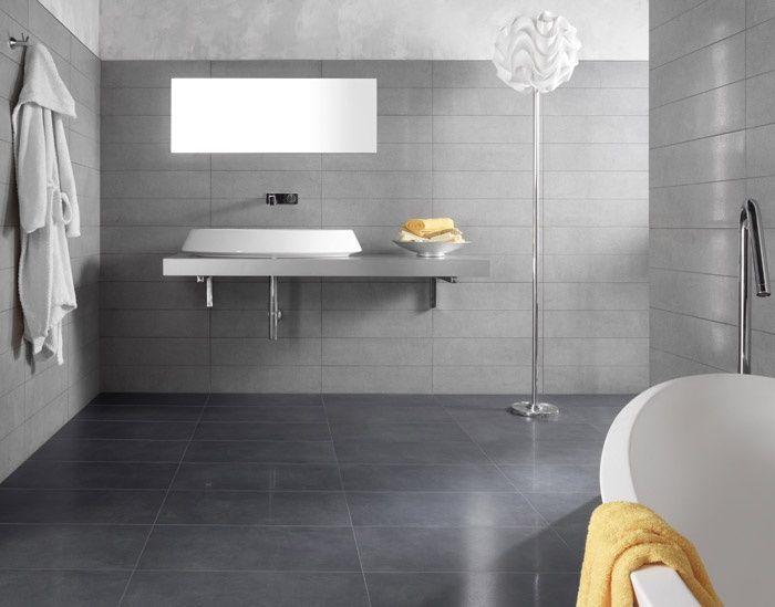 Pavimento più scuro e pareti grigie casa pinterest bagno