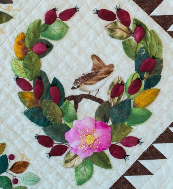 Excellence in Hand Quilting: Little Brown Bird by Annette Angood ... : canadian quilting association - Adamdwight.com