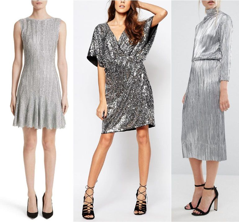 Silver dress outfit