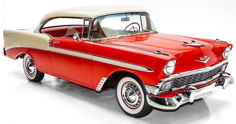 1956 Chevrolet Bel Air Sport Coupe Matador Red India Ivory