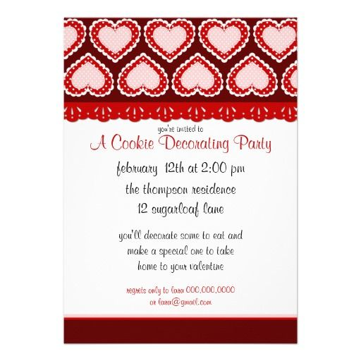 ValentineS Day Cookie Decorating Party Invite  KidS Holiday