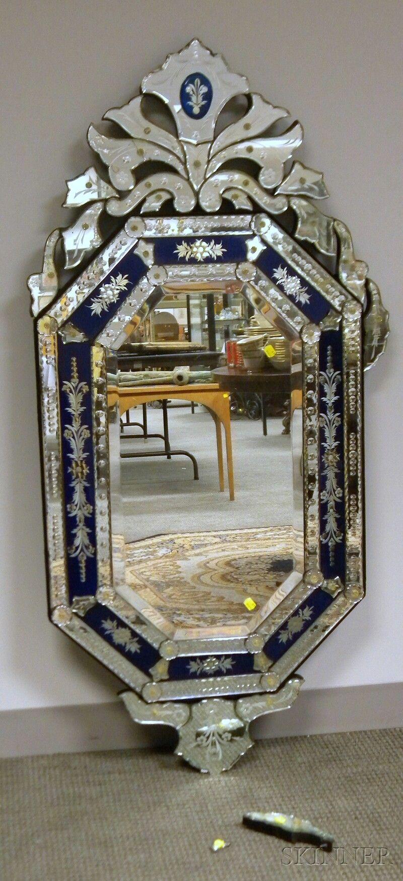 Fabulous Vintage Mirror Mirror Venetian Glass Mirror Elegant Mirrors